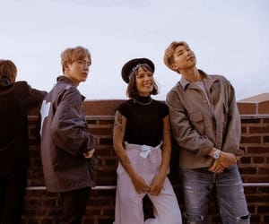 bts, halsey, and jin image