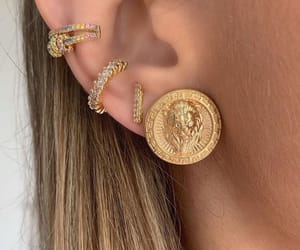 earring, luxury, and coin jewelry image