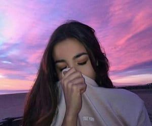 girl, photo, and sky image