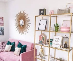 decoration, gold, and pink image