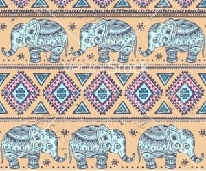 elephant, pattern, and wallpaper backgrounds image