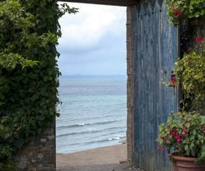 door, sea, and nature image