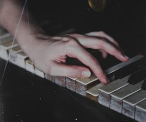 piano, hand, and music image