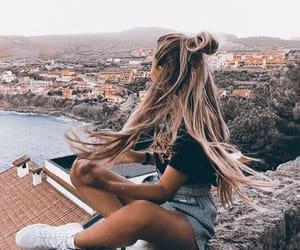 hair, travel, and girl image