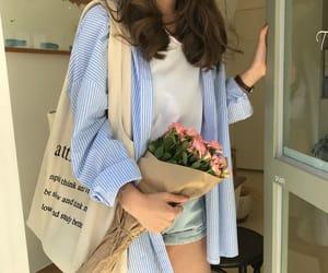 blue, girls, and korean image