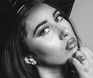 black and white, makeup, and kali uchis image