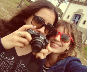 camera, girls, and glasses image