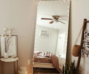 room, mirror, and bedroom image