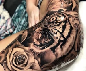 ink, roses, and tattooing image