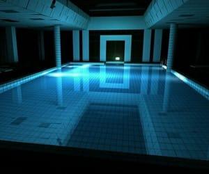 pool, blue, and grunge image