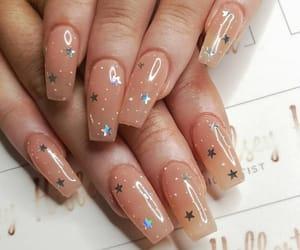 nails, nail art, and stars image