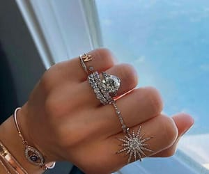 rings, jewelry, and silver image