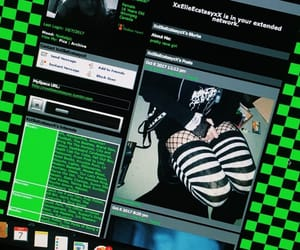 goth, green, and theme image