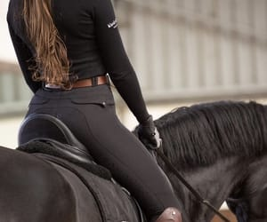 dp, girl, and horse image