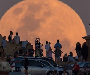 moon, people, and aesthetic image