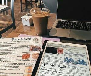notes, study, and coffee image