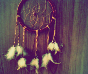 Dream, dreamcatcher, and feather image