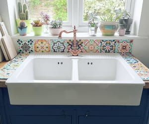 bathroom, boho, and colourful image