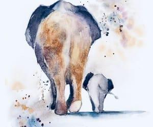 art, drawing, and elephants image
