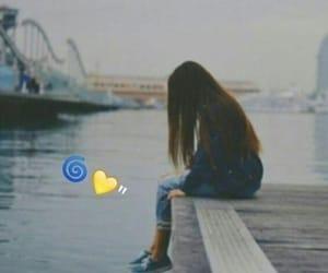 girl, sad, and alone girl image