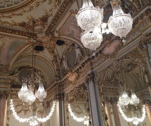 chandelier, architecture, and art image