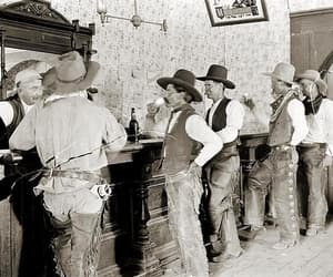 black and white, old west, and vintage image