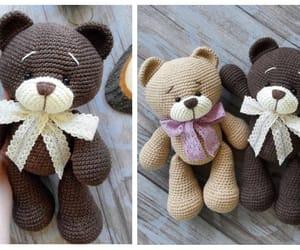 amigurumi, teddy bear, and crochet image