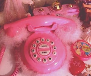 pink, phone, and barbie image