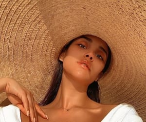hat, summer, and girl image