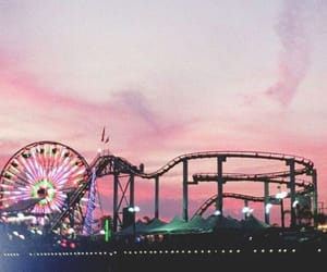 wallpaper, pink, and amusement park image