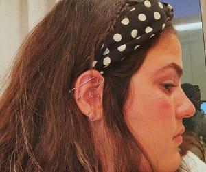 earrings, girl, and Piercings image
