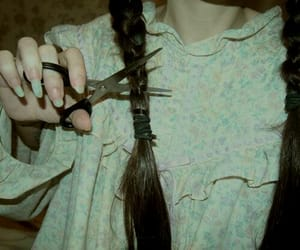 braid, double, and goth image