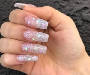 nails, stars, and beauty image