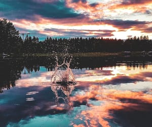 water, nature, and clouds image