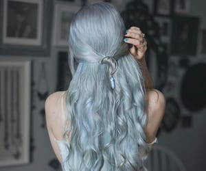 bluehair, lunartides, and hairdye image