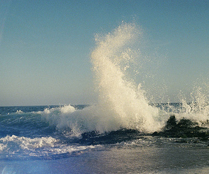 sea, waves, and photography image