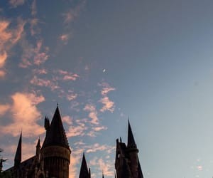 castle, harry potter, and moon image