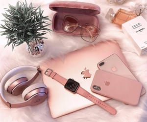 apple, pink, and smart watch image