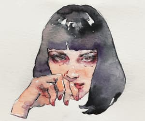art, illustrator, and watercolour image