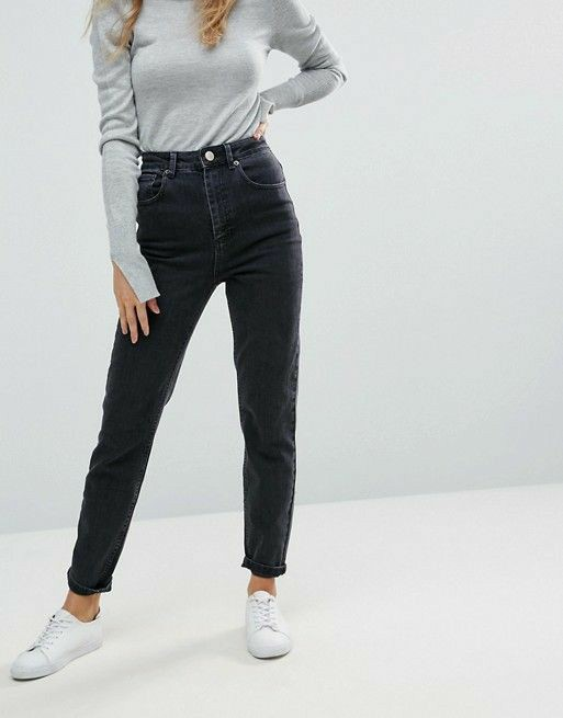 Black mom jeans discovered by Federica on We Heart It