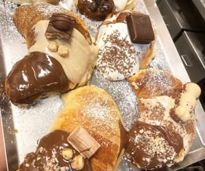 bakery, chocolate, and croissant image