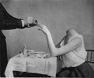 black and white, art, and creepy image
