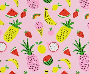 background, banana, and lemon image