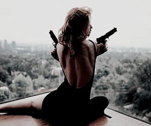 gun, wildfox, and woman image