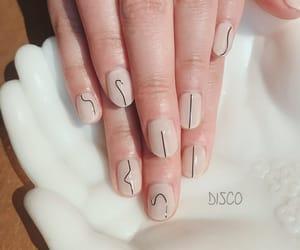 nail art, shorties, and nude nails image