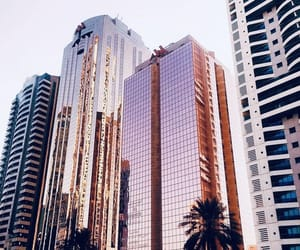 city, building, and pink image