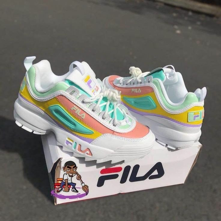 colorful fila shoes discovered by Dreams come True