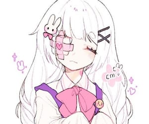 anime, pink, and white image