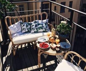 breakfast, food, and balcony image