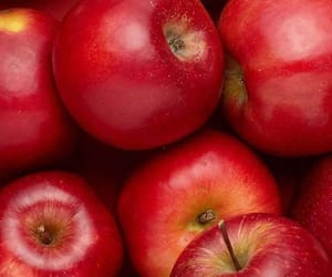red and red apple image
